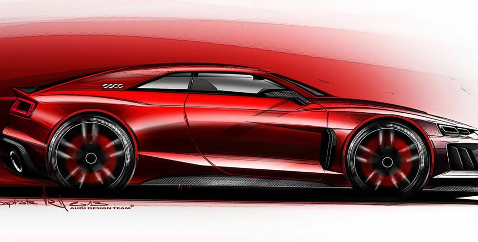Audi har vist oss bilen stykkvis og delt tidligere. Nå tar de konseptet frem igjen, og hinter om at den skal på markedet.  Foto: Produsenten