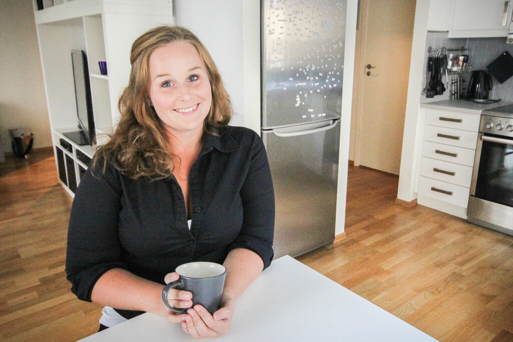 Ingvild Moen tjener gode penger på å leie ut gjesterommet sitt gjennom Airbnb. 100.000 kroner har hun inkassert i løpet av det siste året. Foto: Gaute Beckett Holmslet