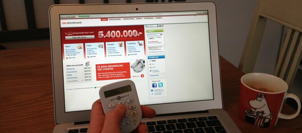 Bruk helgen:  Storebrand Bank anbefaler alle å ta en tur i nettbanken denne helgen.  Foto: TUVA MOFLAG
