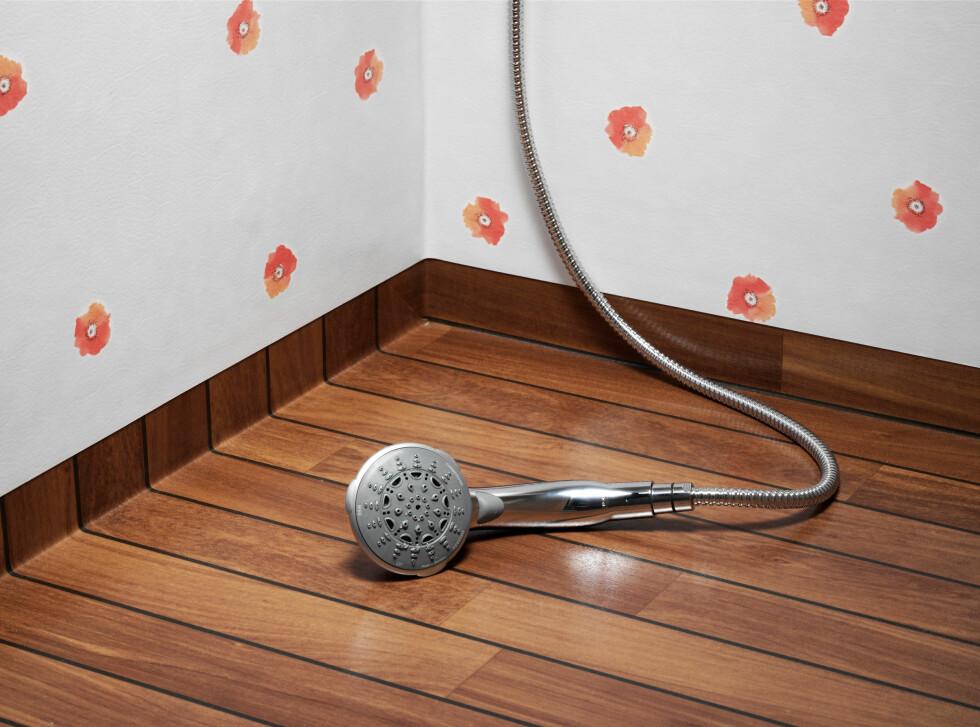Du kan fint bruke vinylgulv på baderommet, men sjekk at du kjøper et belegg som er beregnet på våtrom. Foto: Tarkett/Ifi.no