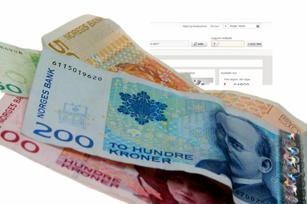 Nei, vi mener ikke at du skal ta ut masse kontanter fra sparekontoen. Men flytt heller pengene til lånet ditt, dersom lånerenten er høyere enn du får på sparekontoen.   Foto: OLE PETTER BAUGERØD STOKKE/ILLUSTRASJON