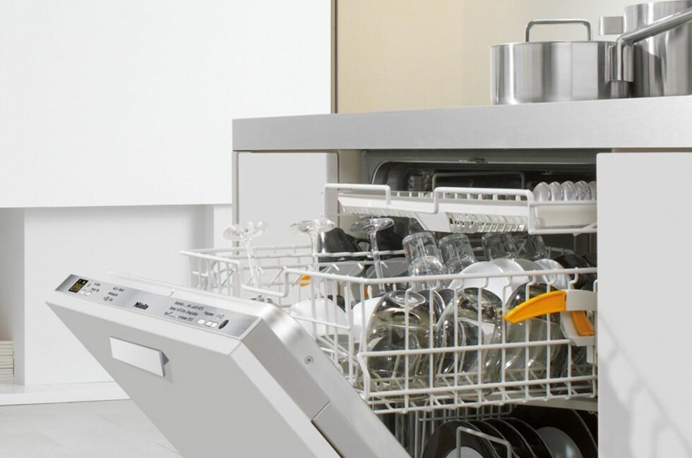 Oppvaskmaskiner fra Bosch, Siemens og Miele skårer gjennomgående høyt på tester. Her ser du en av Mieles modeller. Foto: Produsenten