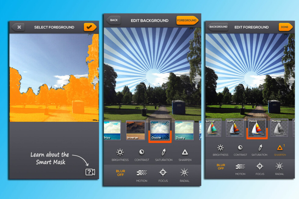 Fotoappen Layrs byr på en annerledes måte å redigere mobilbildene på - men er det kunst? Foto: Kirsti Østvang