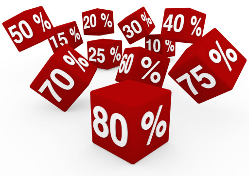 SPILLER INGEN ROLLE: Hvor mange prosent en pris har blitt nedsatt er irrelevant. Det er prisen slik den er nå du betaler.  Foto: All Over Press