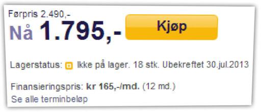 SURT: Her har en nettbutikk tilbud på hodetelefoner som de ikke har på lager. Å gjøre dette bevisst er ikke lov i Norge.