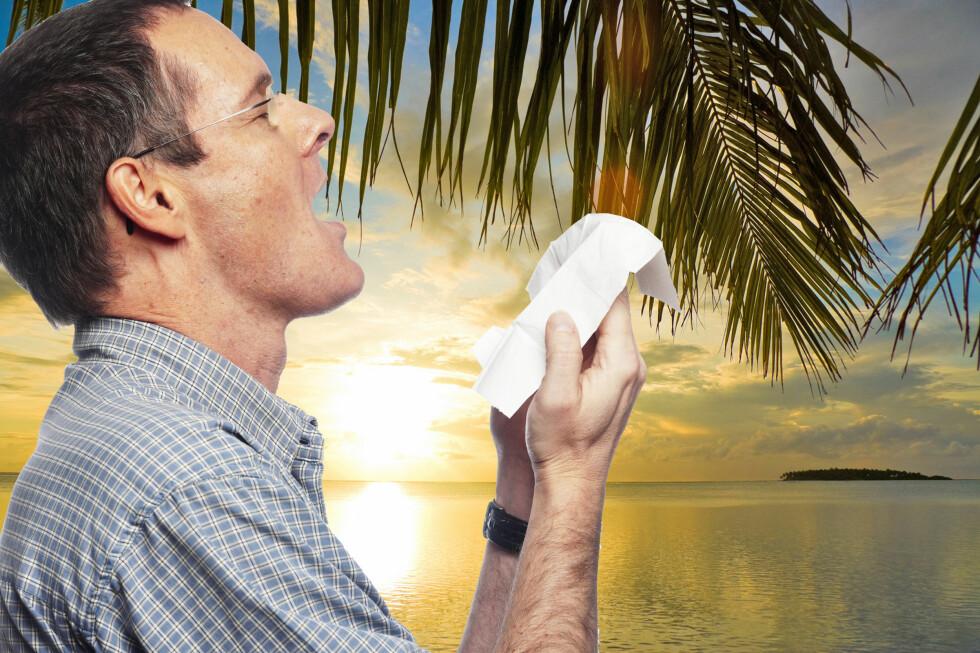 Blir du skikkelig syk i ferien er det greit å vite at du kan få erstatning.  Foto: Colourbox