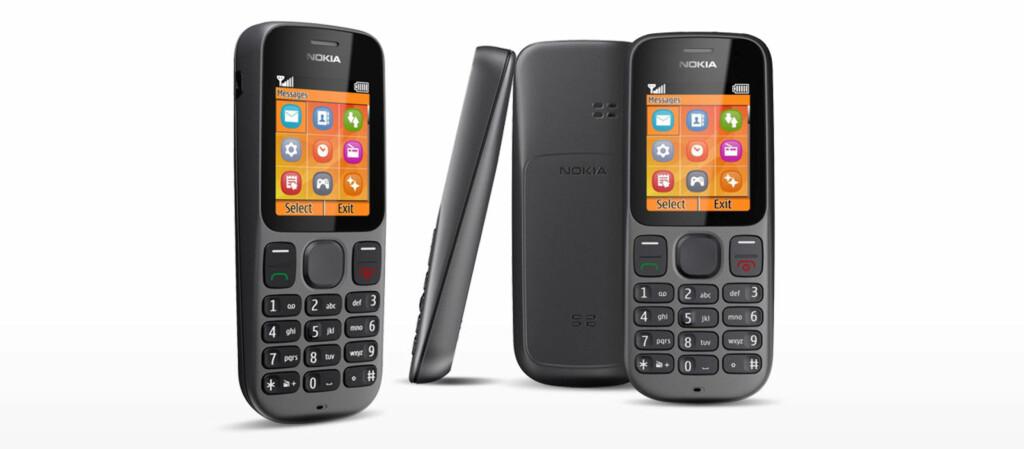 Den er langt fra noen smartmobil, Nokia 100. For øyeblikket er det den eneste telefonen fra det finske selskapet som er inne på topp 15-salgslisten til Elkjøp. Foto: Nokia