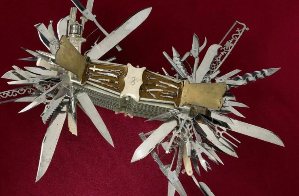 SKILPADDE: Håndtaket er laget av skilpaddeskall.  Foto: Smithsonian Institution