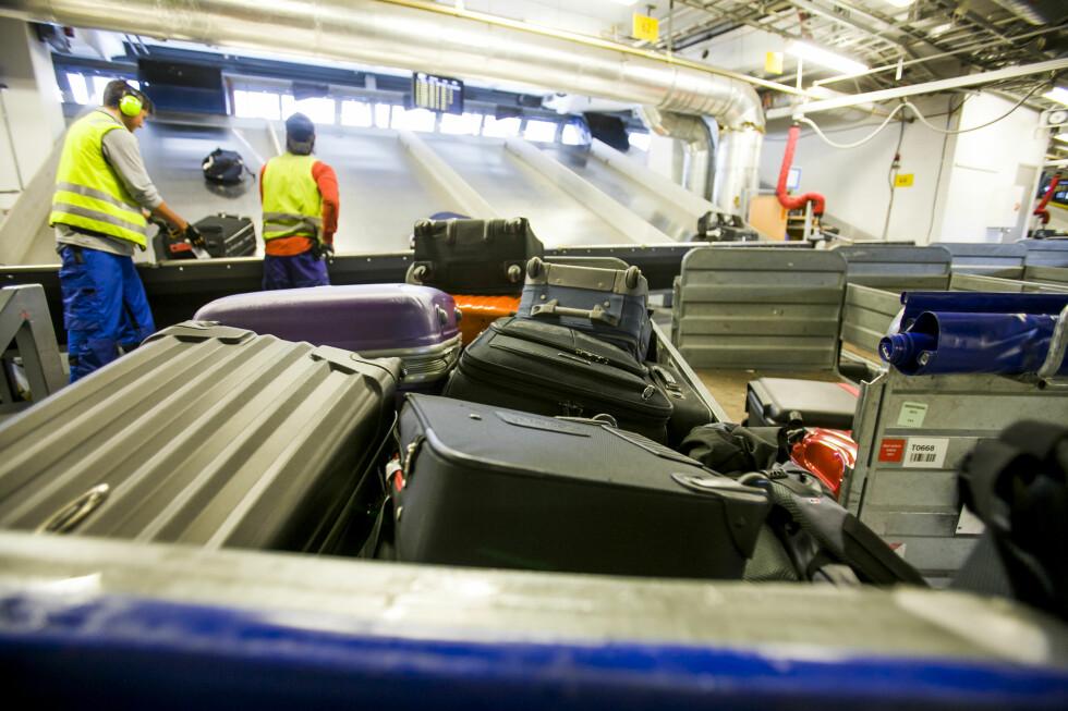 Bagasjen må tåle normal håndtering, som transport på bagasjebånd og manuell lemping og lossing. Foto: Per Ervland