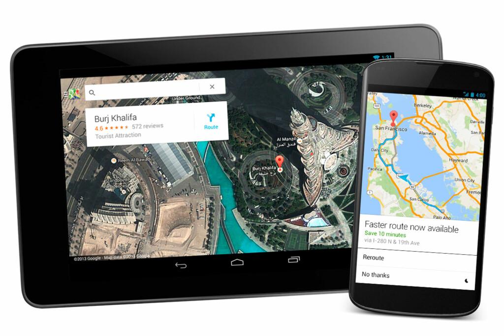 Endelig kommer Google Maps i en dedikert nettbrett-versjon. Snart kommer masse endringer til alle selskapets mobilapper. Foto: Google