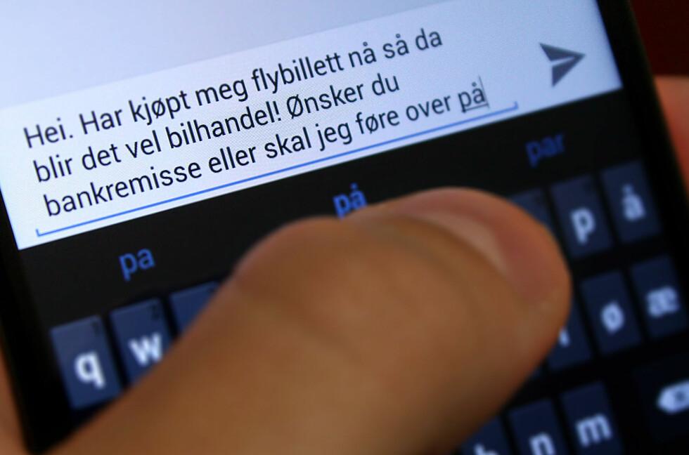 """DYRT: Denne SMS-en kostet en trønder 35.000 kroner. Utrolig, men sant, og kjøpsloven har """"skylda"""".  Foto: Ole Petter Baugerød Stokke"""