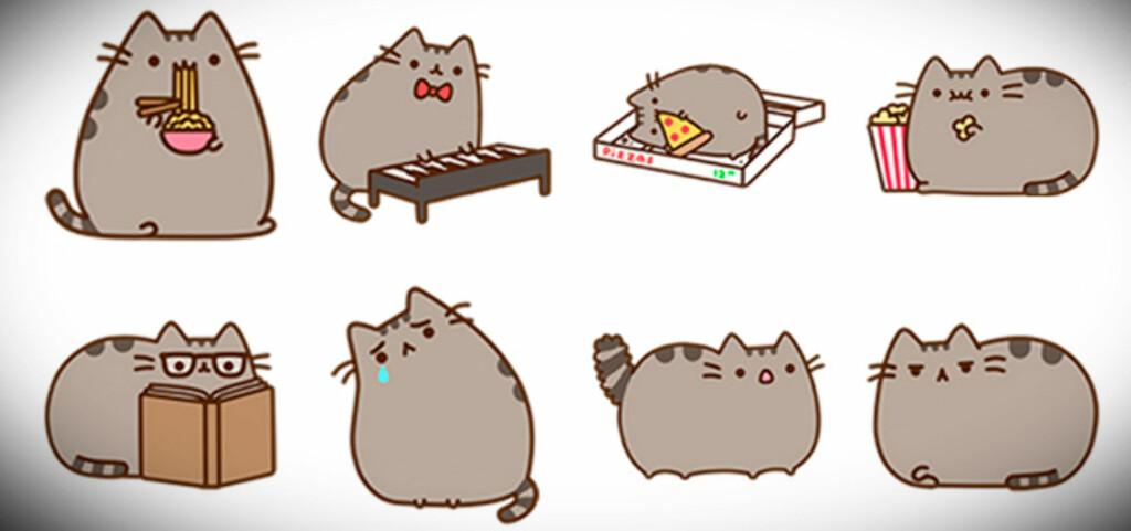 Fra Facebooks egen beskrivelse: Møt Pusheen, «den grå lubne katten som får hjerter til å smelte».