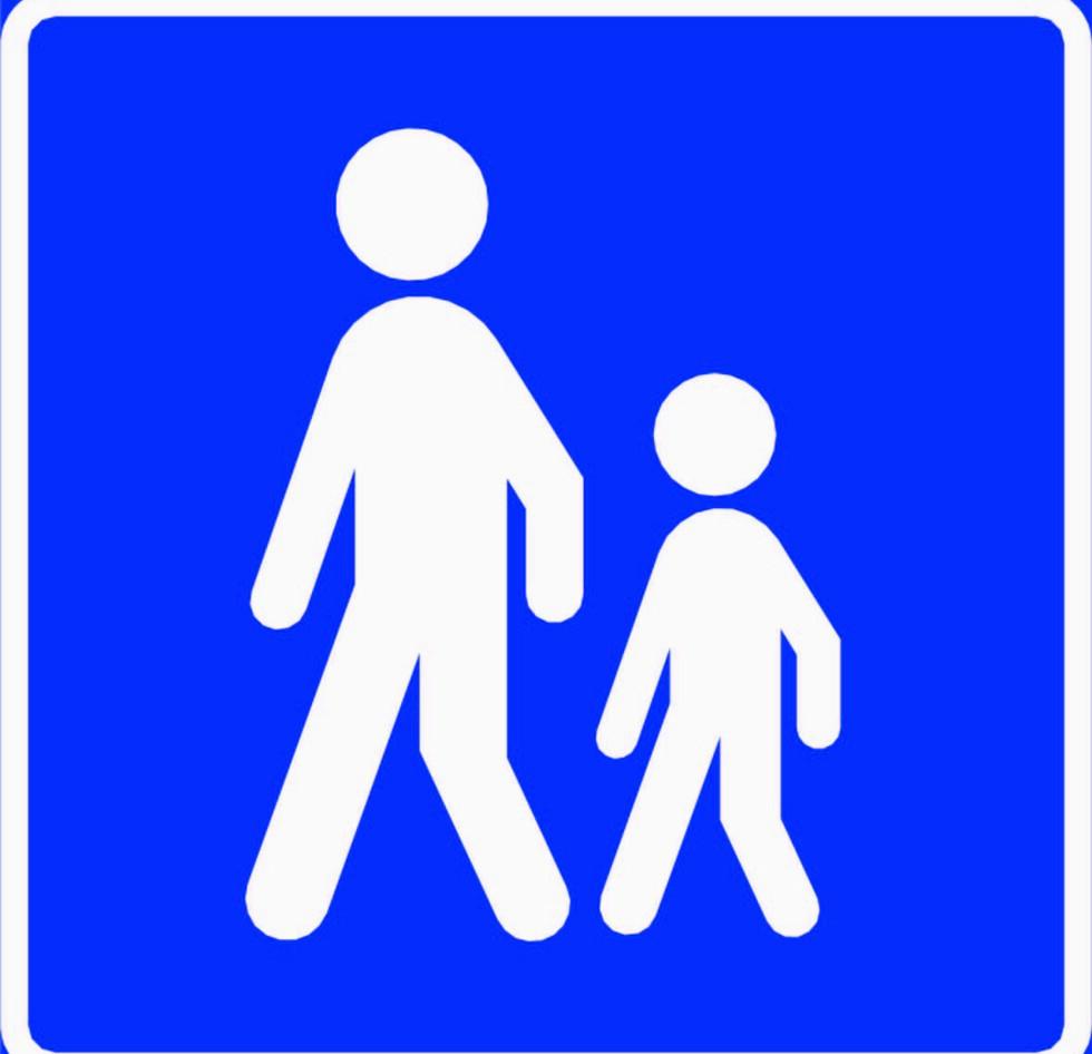 GANGVEG: Veg som ved offentlig trafikkskilt er bestemt for gående. Det er ikke lov å sykle på gangveg. Skilt 518 Gangveg skal bare brukes når sykkeltrafikken har et tilsvarende parallelt tilbud, eller når vegen ikke er framkommelig for sykling. Foto: Statens vegvesen