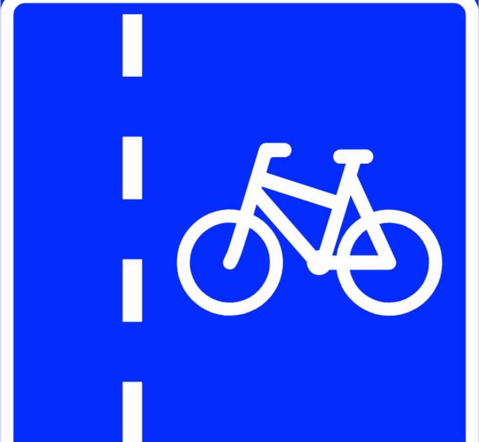 SYKKELFELT: Kjørefelt som ved offentlig trafikkskilt og oppmerking er bestemt for syklende. Andre kjørende enn syklende må ikke bruke sykkelfelt. Syklende må bare bruke sykkelfelt på høyre side av vegen, og de eneste som har lov til å stoppe i sykkelfelt er buss eller sporvogn på holdeplass. Foto: Statens vegvesen