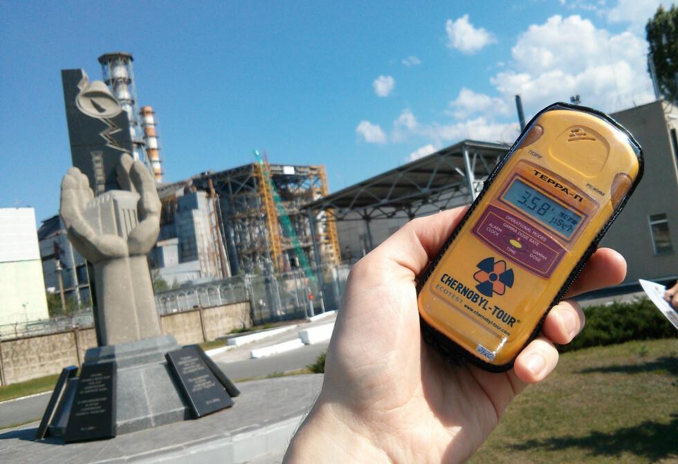 STRÅLENDE: Tsjernobyl-kraftverket stråler fortsatt. Men det skal være helt trygt for turister.  Foto: Ole Petter Baugerød Stokke