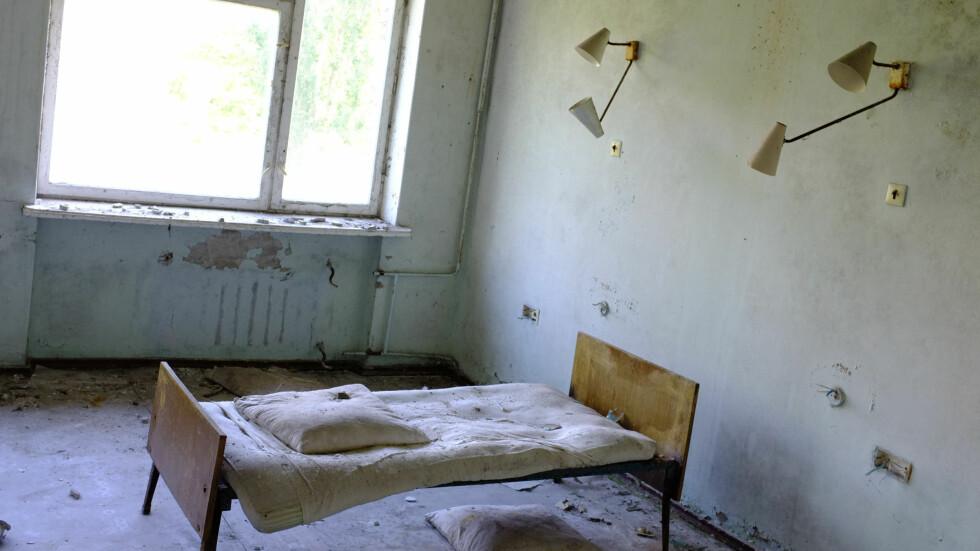 Scener fra et sykehus i Pripjat.  Foto: Ole Petter Baugerød Stokke