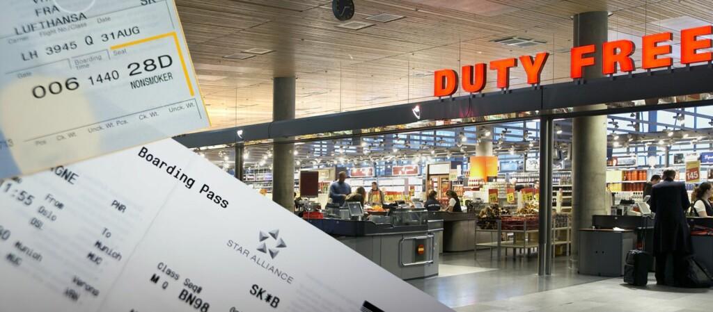 Boardingkortet avslører ikke om turen din er for kort. Det er ditt ansvar å kjenne reglene om når du kan ta med kvote, og når du ikke kan. Foto: Travel Retail Norway/Per Ervland