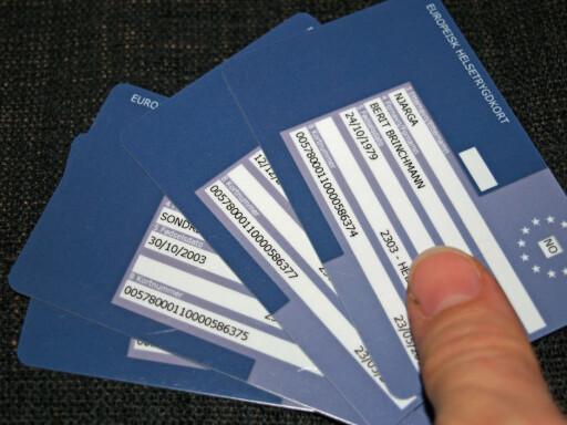 Helsetrygdkortet er  svært lett å bestille, men det kan ta inntil ti dager å få det i posten. Foto: BERIT B. NJARGA
