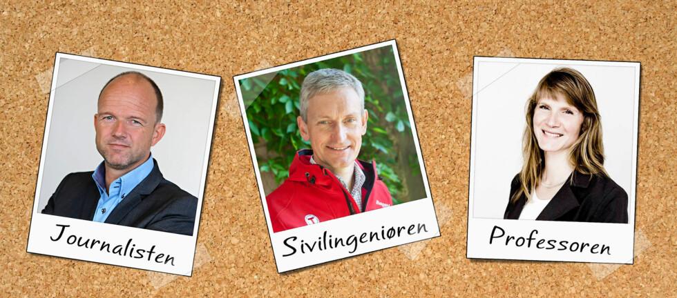Ole Erik Almlid, Nils Øveraas og Mari Sundli Tveit skal alle ta fatt på nye lederoppgaver de neste månedene. De deler sine råd om hvordan man når toppen. Foto: NHO, DNT, UMB / Per Ervland