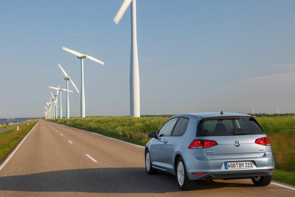 Med 0,32 liter på milen for nye Golf BlueMotion, legger Volkswagen nå listen enda litt høyere. Foto: VW