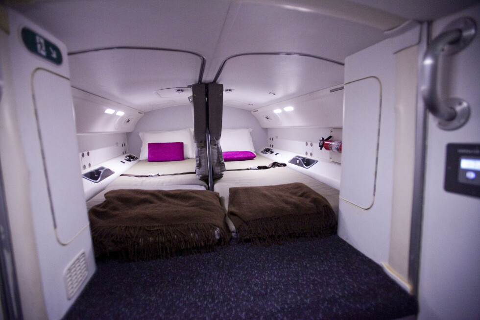 Pilotene kan hvile seg her oppe på lengre turer. Foto: Per Ervland