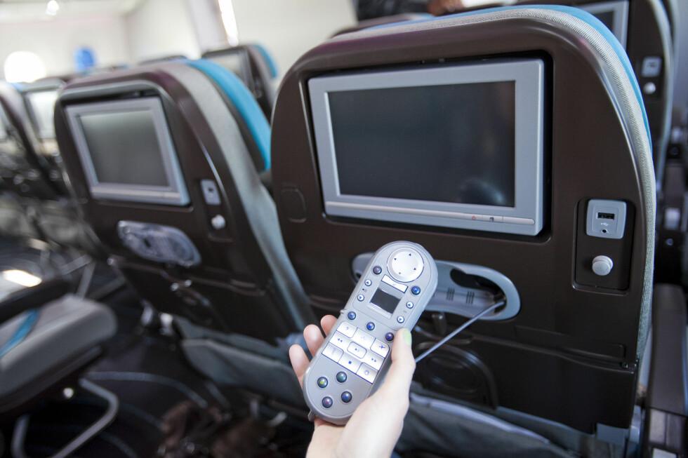 Slik ser den ut. Denne fjernkontrollen kommer til å bli en kjær venn på lange flyturer. Foto: Per Ervland