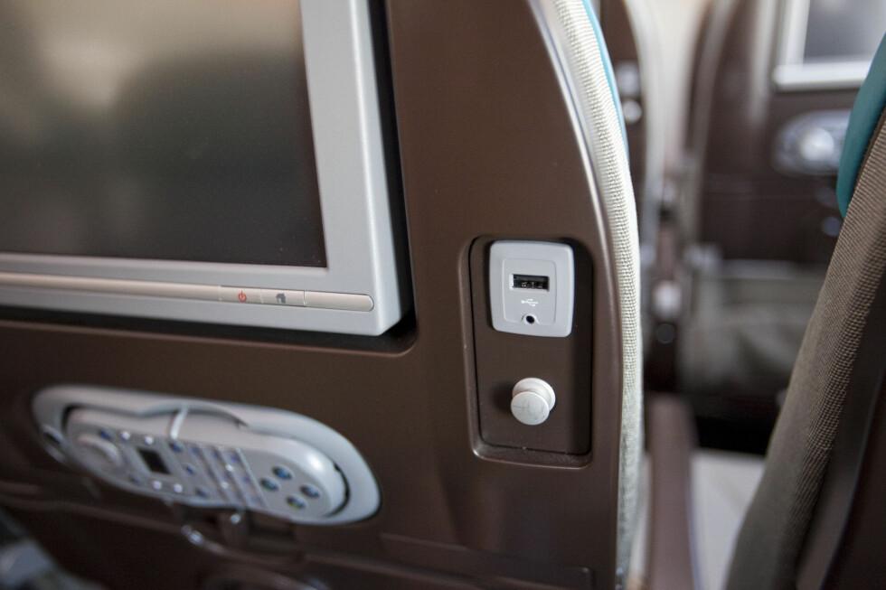 USB-lader på økonomiklasse. Det liker vi! Foto: Per Ervland