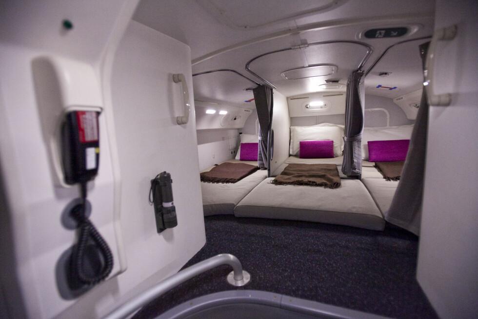 Her kan kabinmannskapet sove. Foto: Per Ervland
