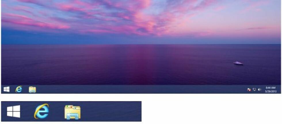 Den nye startknappen i Windows 8.1 ligger på samme sted som i Windows 7, altså nede til venstre. Foto: WinSuperSite.com