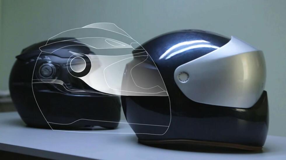 Slik ser prototypen av hjelmen fra LiveMap ut. Foto: LiveMap via Youtube
