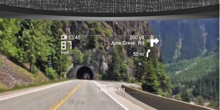 Hjelmen har integrert navigasjon