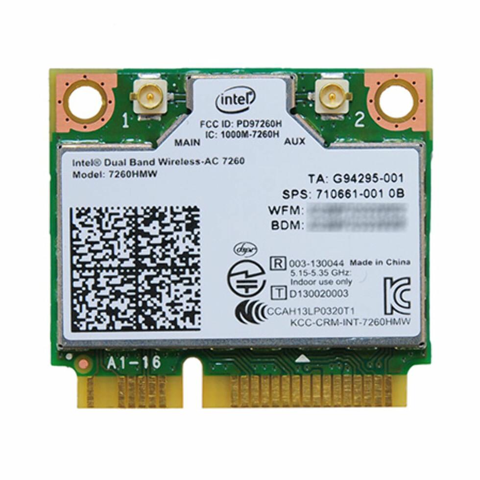 miniPCIe kort for oppgradering av bærbare til 802.11ac Foto: Intel