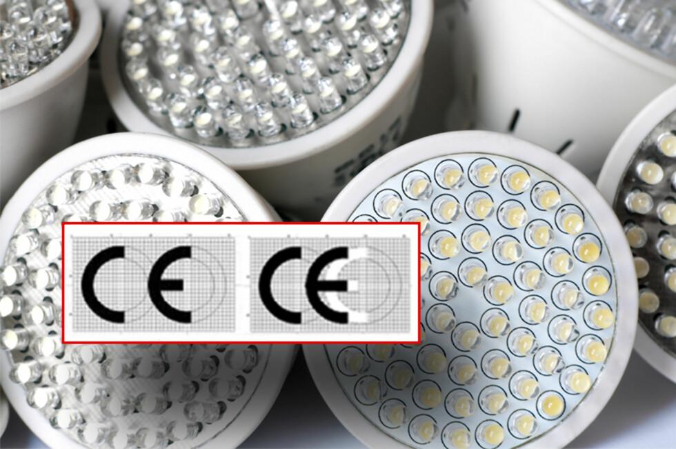 Ser du hvilket av disse merkene som sier noe om produktet er godkjent for bruk i Europa? Foto: Panthermedia/DinSide