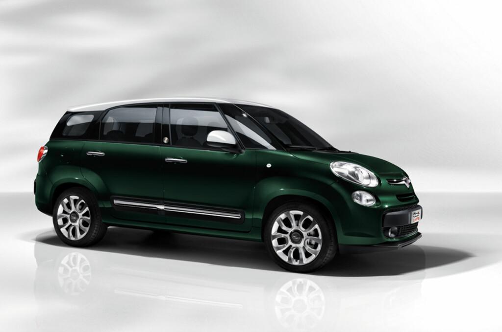 """Joda, dette er en Fiat 500. Riktig nok med en L, som betyr """"større"""", og epitetet Living som betyr... """"enda større"""". Foto: Fiat"""