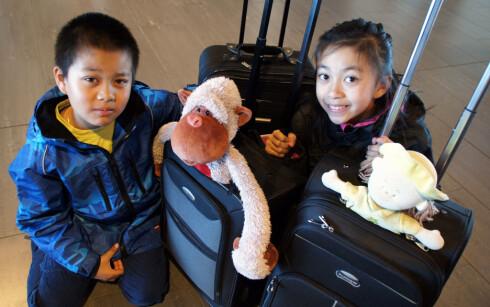 Mai Nguyens barn på 10 og 12 år gleder seg til ferien.                     Foto: Mai Nguyen