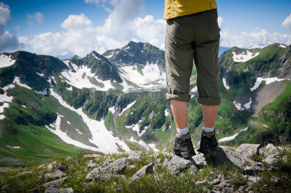 EN VELYKKET FJELLTUR: Kan alene stå på at du har gode fjellsko med riktig passform.  Foto: Colourbox