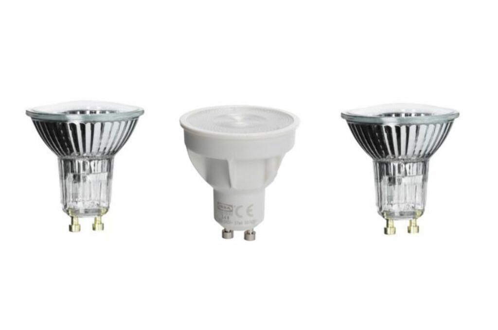 LED er fremdeles langt dyrere enn halogen og andre glødelamper. Og hva med lyset? Foto: Ikea