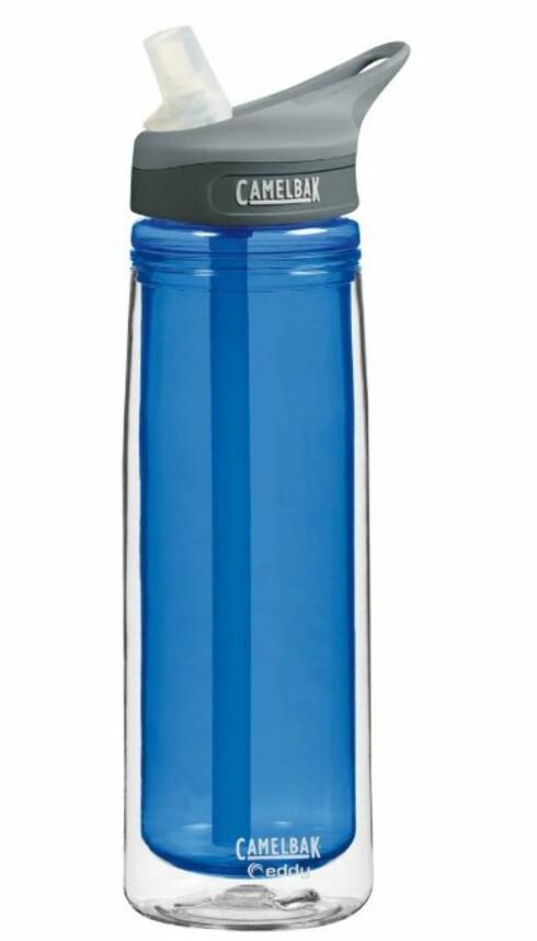 ISOLERT: Camelbak Eddy skal visst nok holde vannet lenger kaldt enn vanlige flasker. Foto: Amazon.com