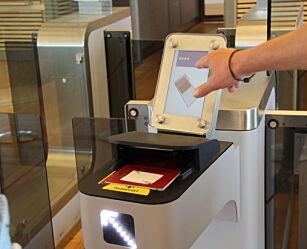 image: Slik er den selvbetjente passkontrollen på Gardermoen