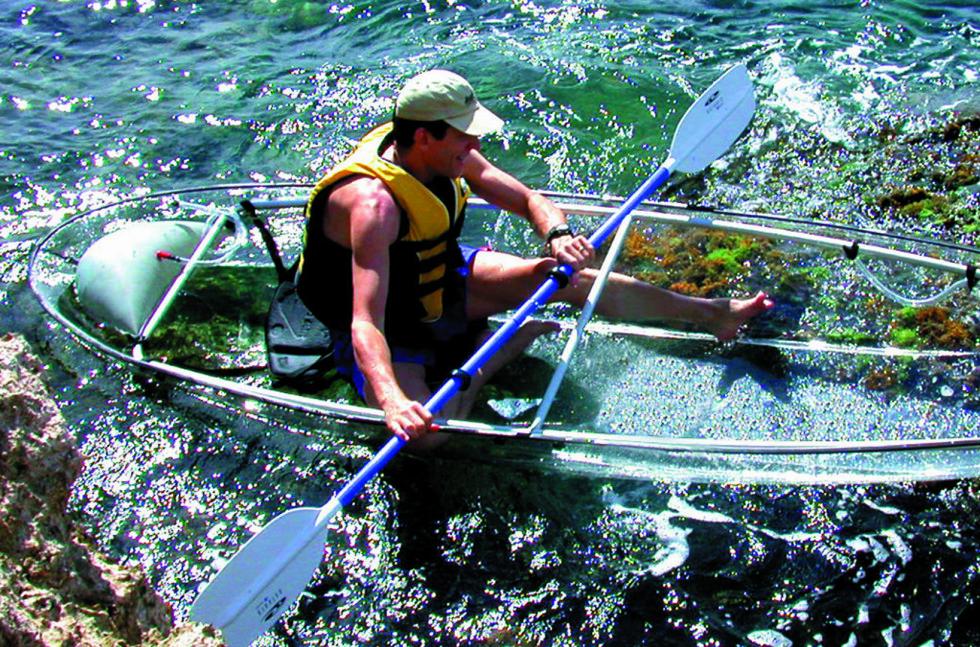 ENKEL, MEN DYR:  Her betaler du mye for materialet kajakken er laget av.  Foto: Clear Blue Hawaii