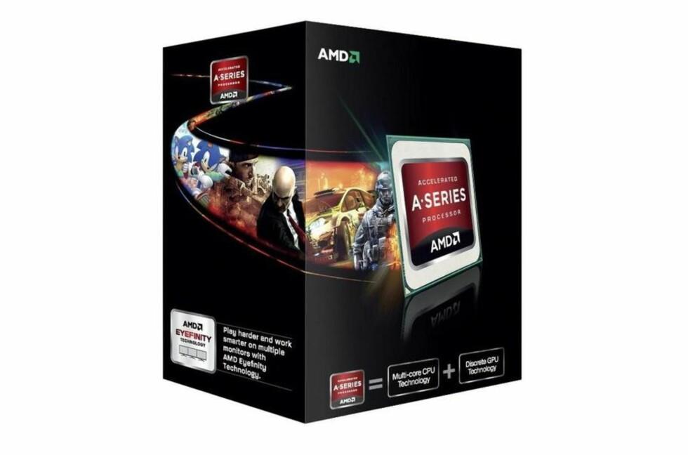 AMD er ute med en ny generasjon prosessorer for FM2-sokkelen. Vår test viser samme eller bedre ytelse enn forgjengeren, men med vesentlig mindre strømbruk. Foto: AMD