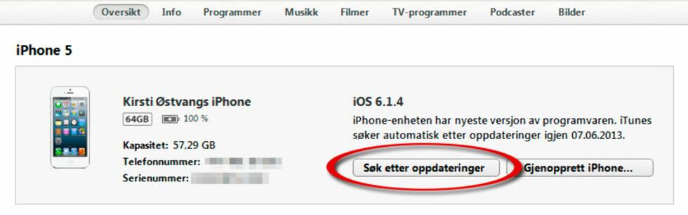 Hvordan oppdatere iOS