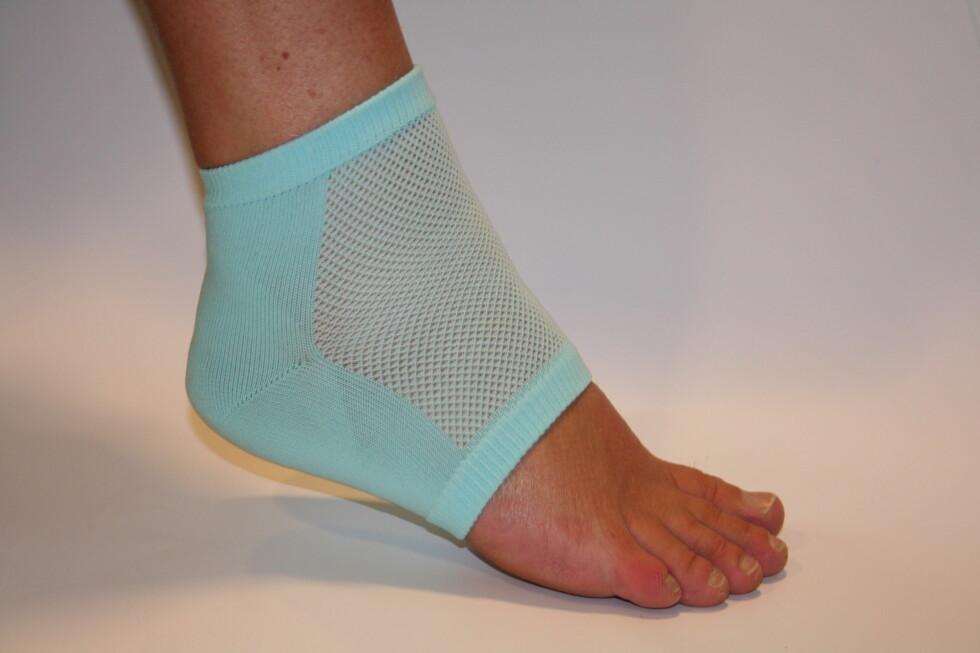 GELÉ: Et tyng lag med gelé i denne spesielle tåløse sokken skal lindre og forebygge gnagsår.  Foto: Produsent