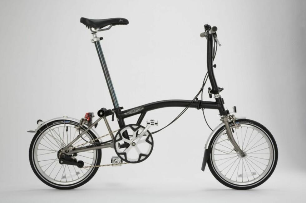 Trinn 1: Full utslått ser den altså slik ut. Sykkelen foldes sammen på rundt 20 sekunder, og har da en vekt på rundt 11 kg. Foto: Produktbilder