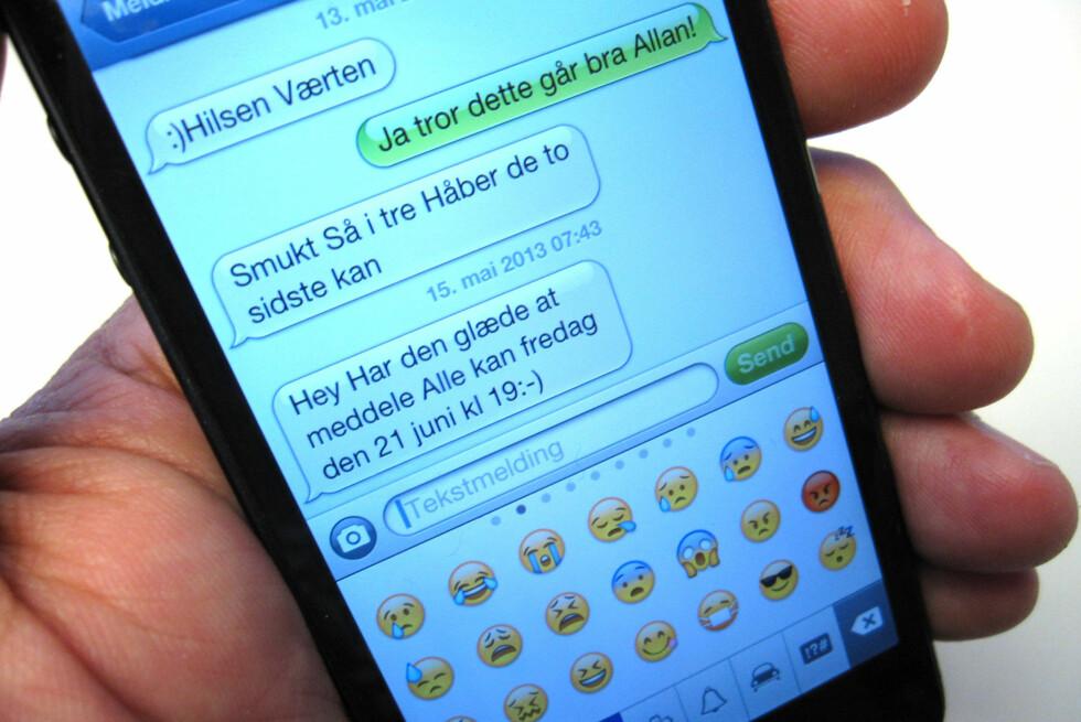 Du kan kopiere samtalene over på PC-en og lese dem i nettleseren. Kjapt og greit. Foto: Bjørn Eirik Loftås