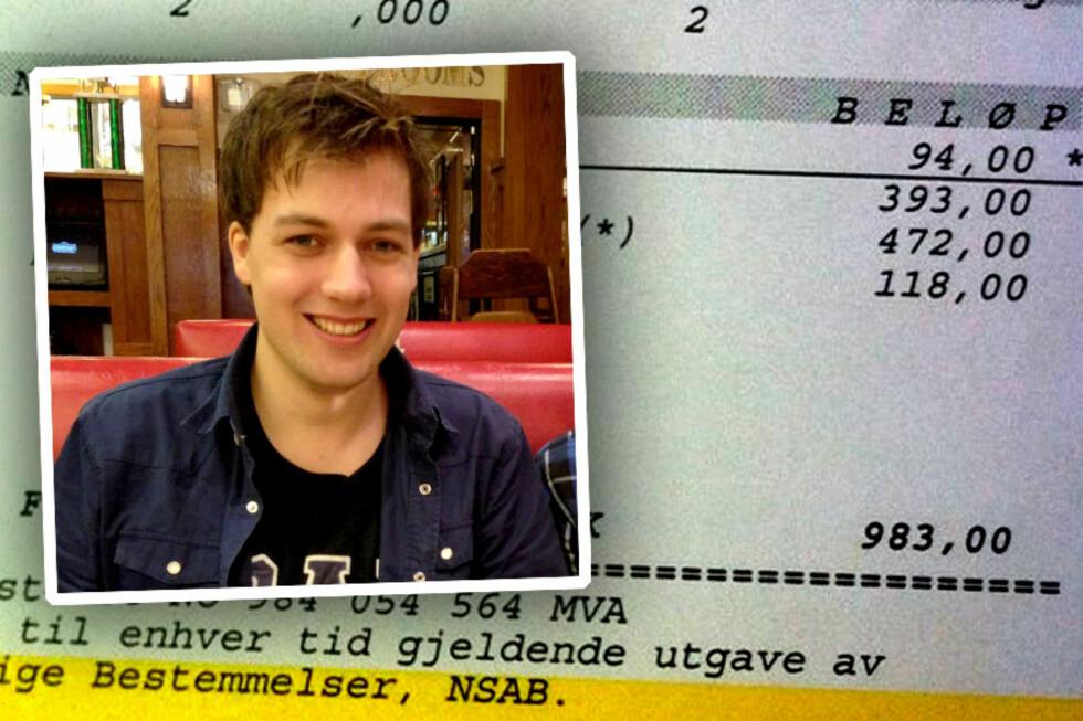 """""""TYVERI!"""":  Finn Øivind Fevang handlet en vare for 348 kroner inkludert frakt på nett. Nå må han betale 983 kroner til Tollpost. Det liker han dårlig.  Foto: Ole Petter Baugerød Stokke/Privat"""