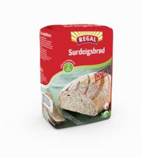 Regal surdeigsbrød gir to store og gode brød. Foto: Produsenten