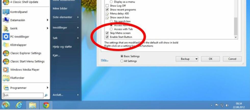 Startmenyer for Windows 8, slik som Classic Shell, har blitt ekstremt populære. De sørger for at Windows 8 blir mer lik Windows 7.