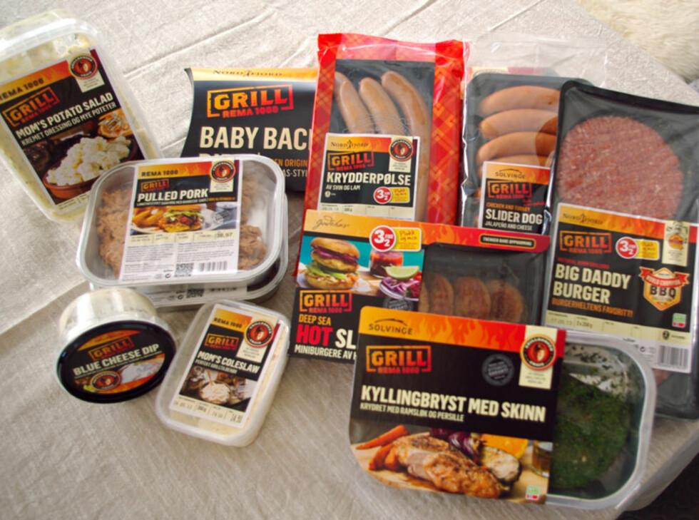 Rema 1000 tilbyr et stort utvalg kjøtt og pølser. Foto: Tuva Moflag