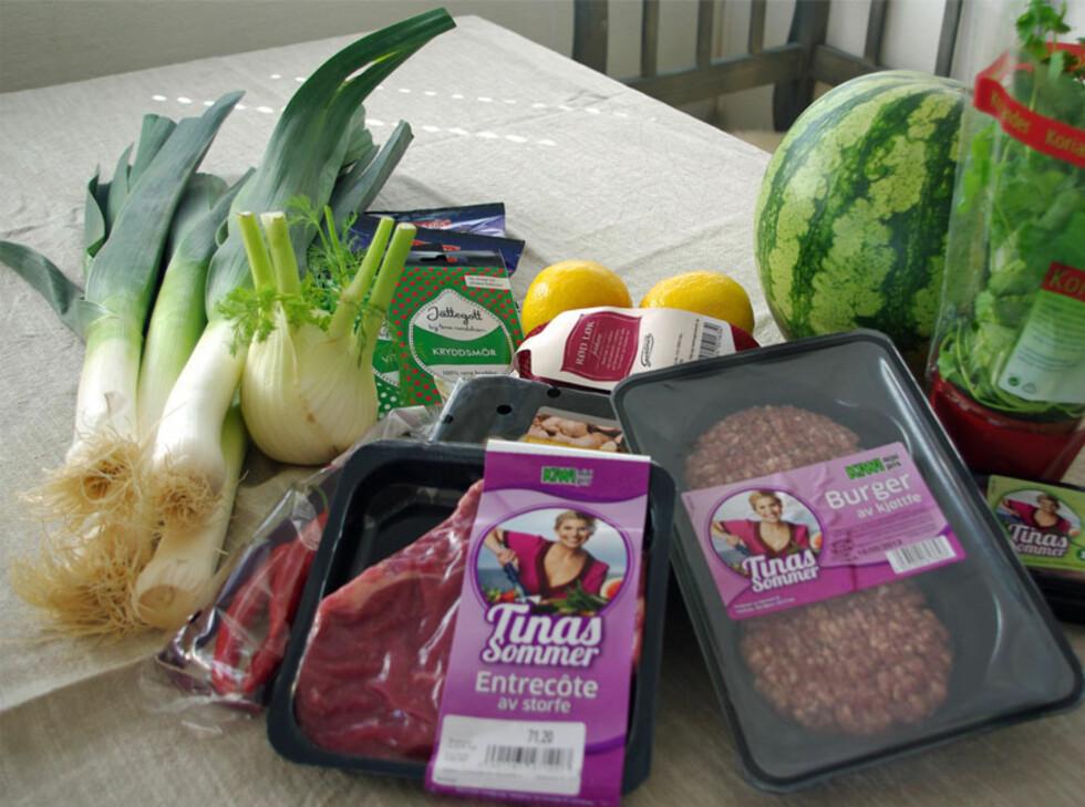 Her er det vi har testet fra KIWIs grillsatsing. Foto: Tuva Moflag